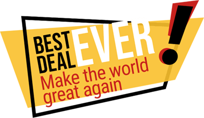 Title and Claim Best Deal ever - Make the world great again!